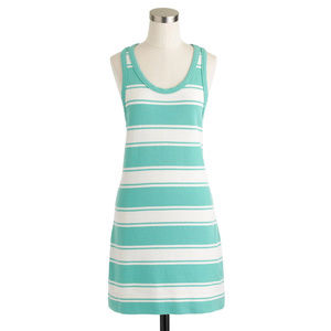 J CREW Rugby Stripe Tank Dress S Cotton Terry NWT